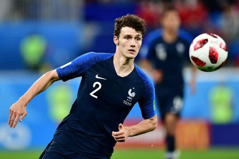 Benjamin Pavard lors de la demi-finale du Mondial-2018. AFP