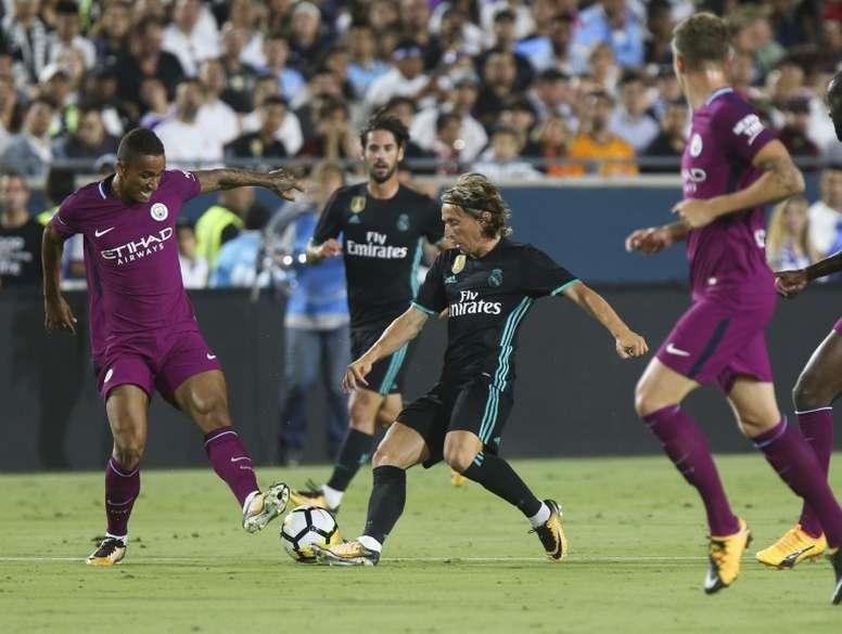 El Madrid ya ha puesto precio a las entradas para ver al City en octavos. AFP/Archivo