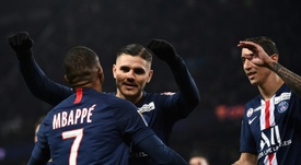 Mauro Icardi wants to stay at PSG. AFP