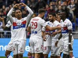 O Lyon venceu por 2-0 na receção ao Metz. AFP