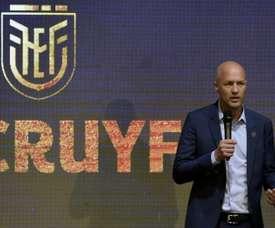 Jordi Cruyff nouveau sélectionneur de l'Équateur. AFP