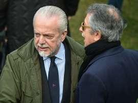 De Laurentiis pasará a tener un 'segundo equipo'. AFP