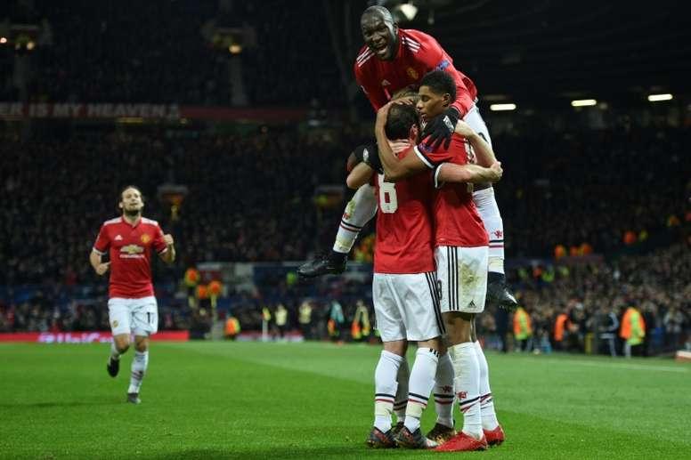 O Manchester United foi um dos times que se classificou esta terça-feira para as oitavas. AFP