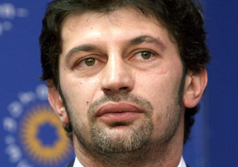Le Géorgien Kakha Kaladze, ancien footballeur vedette de lAC Milan. AFP