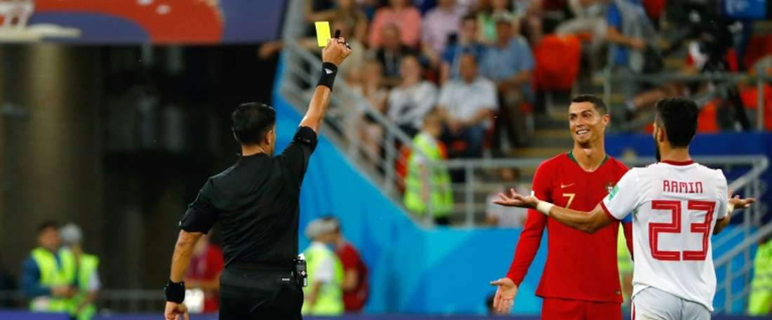 Morteza Pouraliganji (pictured) played against Cristiano Ronaldo at the World Cup. AFP