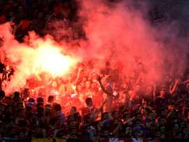 Des supporters d'Al Ahly lors d'un match de Ligue des champions face à Cotonsport. AFP