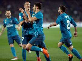 Marco Asensio bisou na partida. BeSoccer