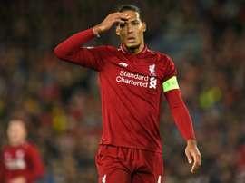 Le défenseur de Liverpool Virgil van Dijk. AFP