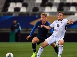 Nicolas Cozza blessé à un genou et forfait contre la Suisse. AFP