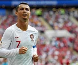 Cristiano Ronaldo já soma 4 gols em dois jogos na Copa do Mundo. AFP