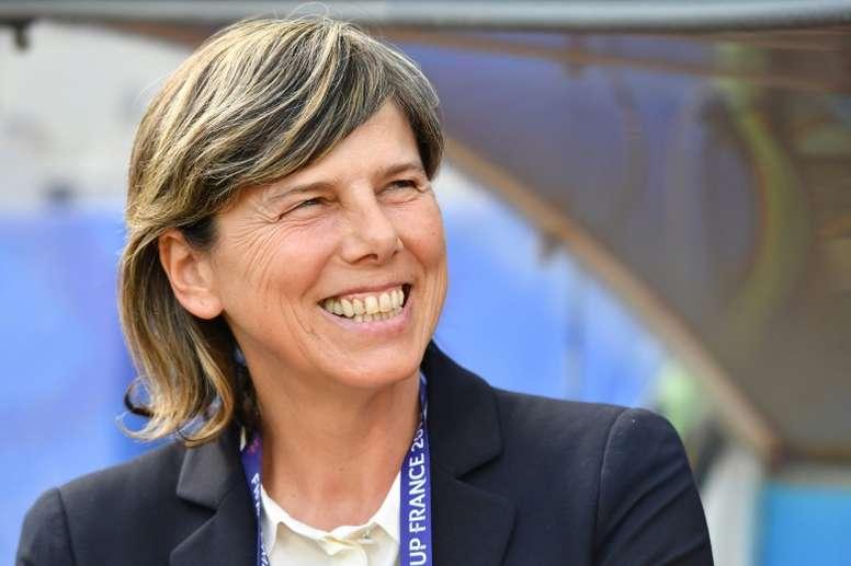 Milena Bertolini criticó el horario del partido. AFP