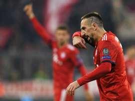 Franck Ribéry contre l'AEK Athènes en Ligue des champions. AFP