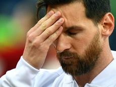 L'attaquant argentin Lionel Messi lors du match face à la Croatie. AFP