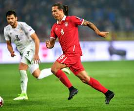 Prijovic está centrado en el debut de Serbia contra Costa Rica. AFP