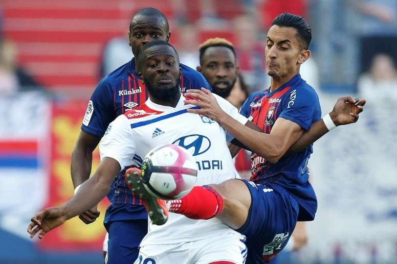 Les compos probables du match de Ligue 1 entre Lyon et Caen. AFP