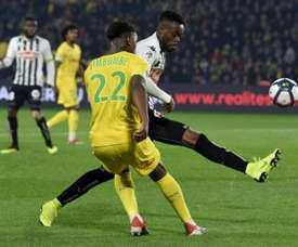 Les compos probables du match de Ligue 1 entre Angers et Nantes. AFP