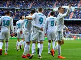 O trio 'BBC' voltou a marcar com destaque para C.Ronaldo. EFE