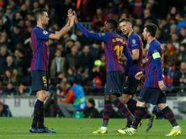 Malas noticias para Dembélé y el Barcelona. AFP