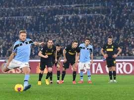 Immobile é o líder da lista de artilheiros da Serie A 2019-2020. AFP