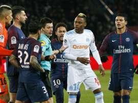 El PSG ha pagado cara su victoria ante el Olympique de Marsella. AFP