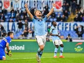 Ciro Immobile continua dominando com larga vantagem a lista de goleadores na Itália. AFP