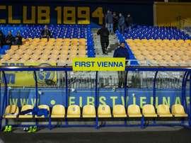 Le stade Hohe Warte du First Vienna FC, le 15 mars 2017 lors du match de la Ligue régionale Est. AFP