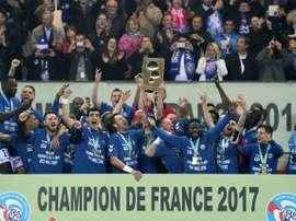 Strasbourg a été sacré champion de Ligue 2. AFP