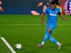 Rodrigo victime d'une rupture d'un ligament au genou droit. AFP