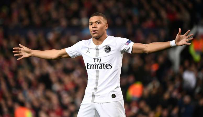 Mbappe was in imperious form as PSG swept United aside. AFP