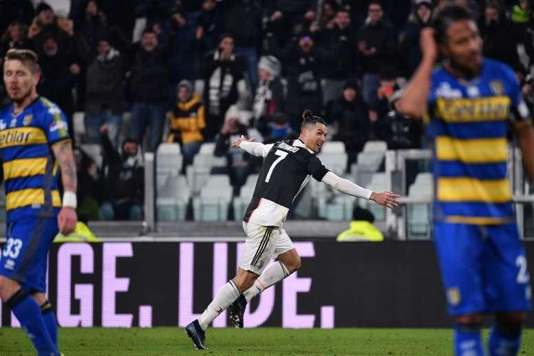 Cristiano Ronaldo resolveu para a Juventus. AFP