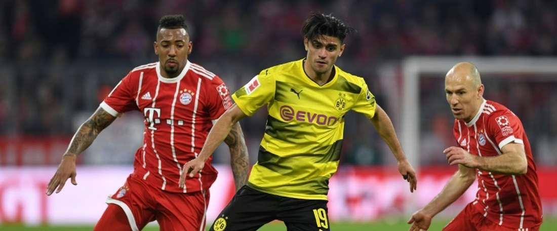 Dahoud continuará no Dortmund. AFP