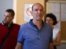 Pierre-Marie Geronimi, alors président du SC Bastia, à son arrivée au palais de justice. AFP