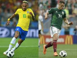 Le Mexique affrontera le Brésil. AFP