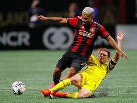 L'Atlanta a été stoppé net en play-offs MLS par le Columbus. AFP