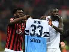 Une amende de 86.000 euros à l'AC Milan. AFP