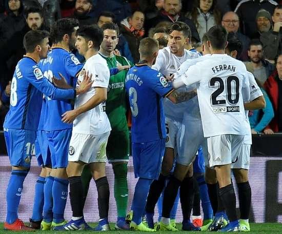 Getafe vise la quatrième place en Liga. AFP