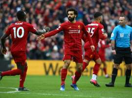 Salah supera Luis Suárez em gols. AFP