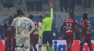 2 matches de suspension pour le Marseillais Alvaro Gonzalez. AFP