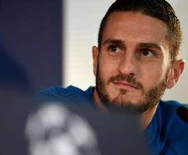 Le capitaine de l'Atlético Madrid, Koke, en conférence de presse. EFE