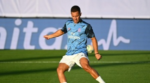 Hazard is still not ready to play for Real Madrid. AFP
