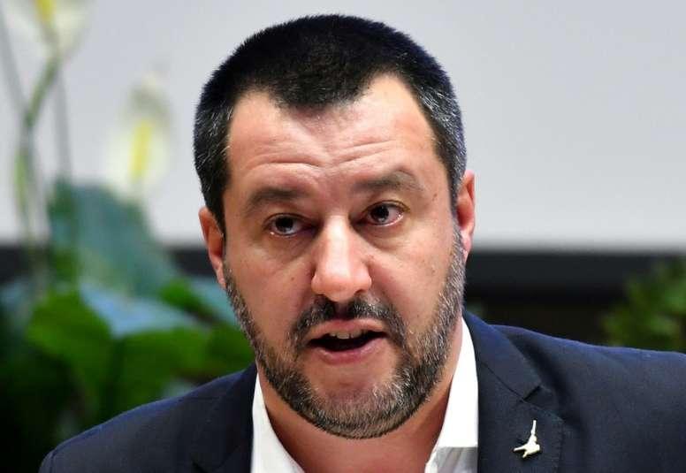 Le ministre italien de l'Intérieur Matteo Salvini lors d'une conférence de presse le 7 janvier 2019 à Rome