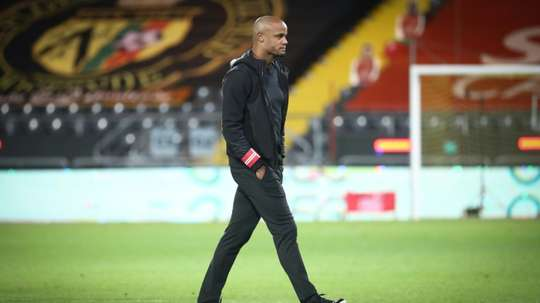 Kompany doesn't want to be compared to Guardiola. AFP