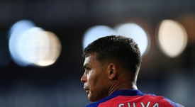 Cavani heureux de retrouver Thiago Silva. afp