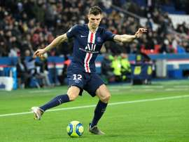 Thomas Meunier charge encore contre le PSG. AFP