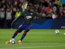 Dembélé prêt à jouer. AFP