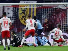 Leipzig tenu en échec, le Bayern nouveau leader. AFP