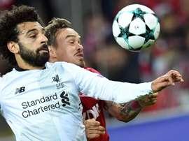 Salah est l'un des candidats au titre du meilleur joueur africain de l'année. AFP
