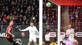 Rennes a envoyé un rapport à la LFP après le match contre l'OM. AFP