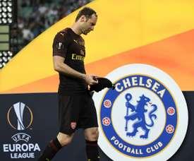Le gardien mythique dArsenal Petr Cech. AFP
