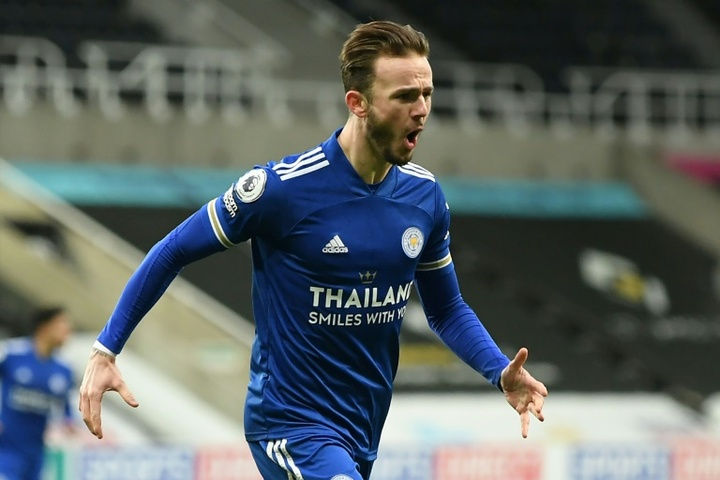 Arsenal are looking for a way to sign Maddison. AFP